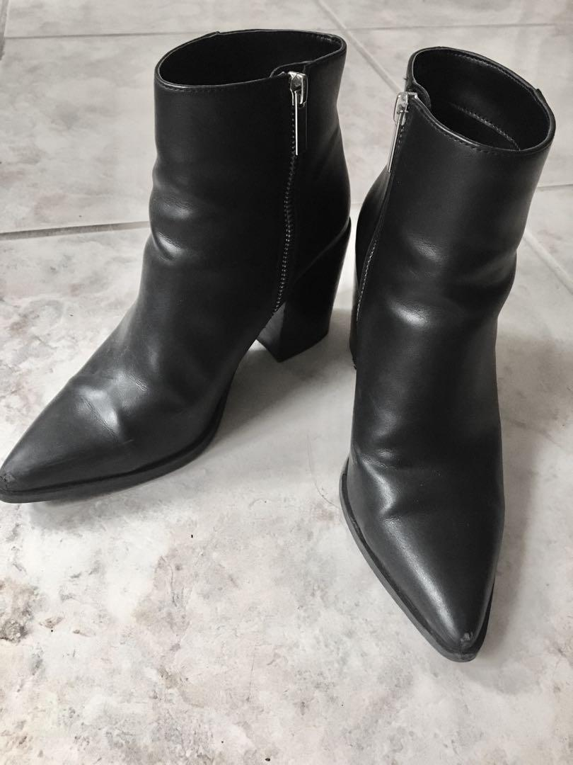 UO Faux-leather ankle boots size 7
