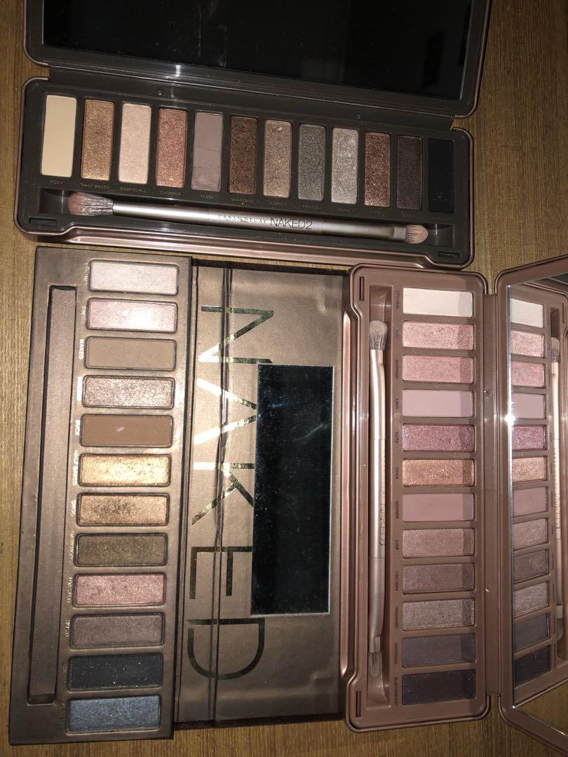 Urban Decay Naked 1, 2 & 3