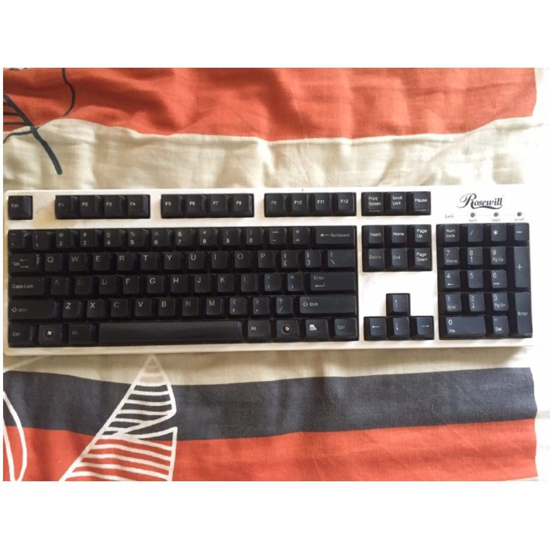 Used Mechanical Keyboard Electronics Computer Parts Accessories Corsair K66 Cherry Mx Red Black Color On Carousell