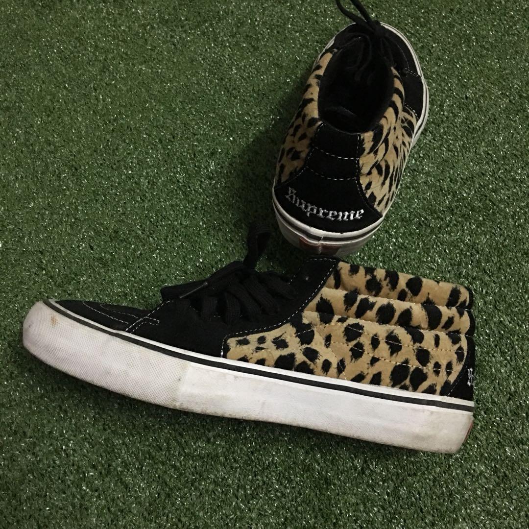 8e033ad322 Vans supreme sk8 mid pro cheetah velvet
