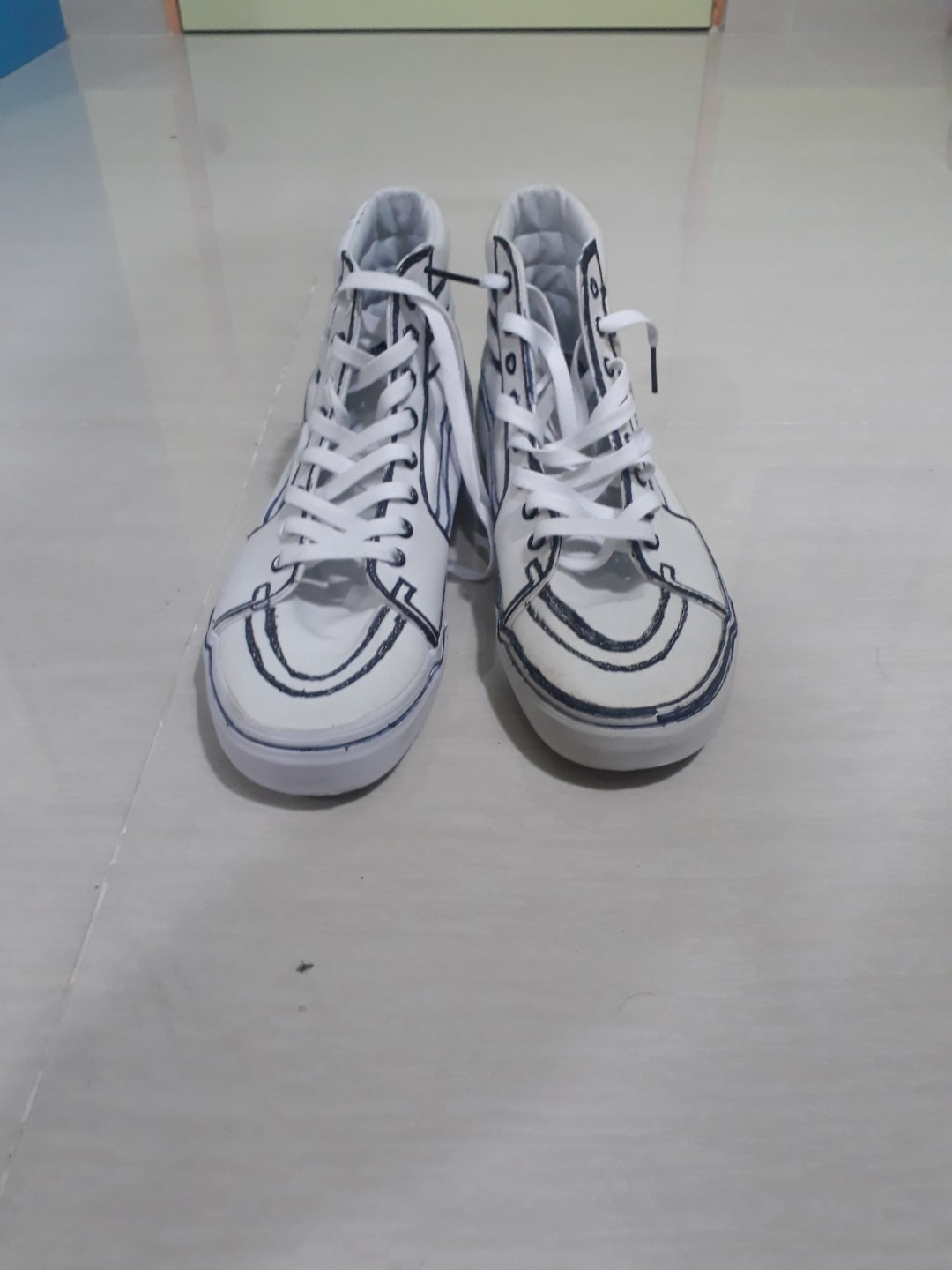 84cb22cbd262 Vans White Custom  20!!!!!!!