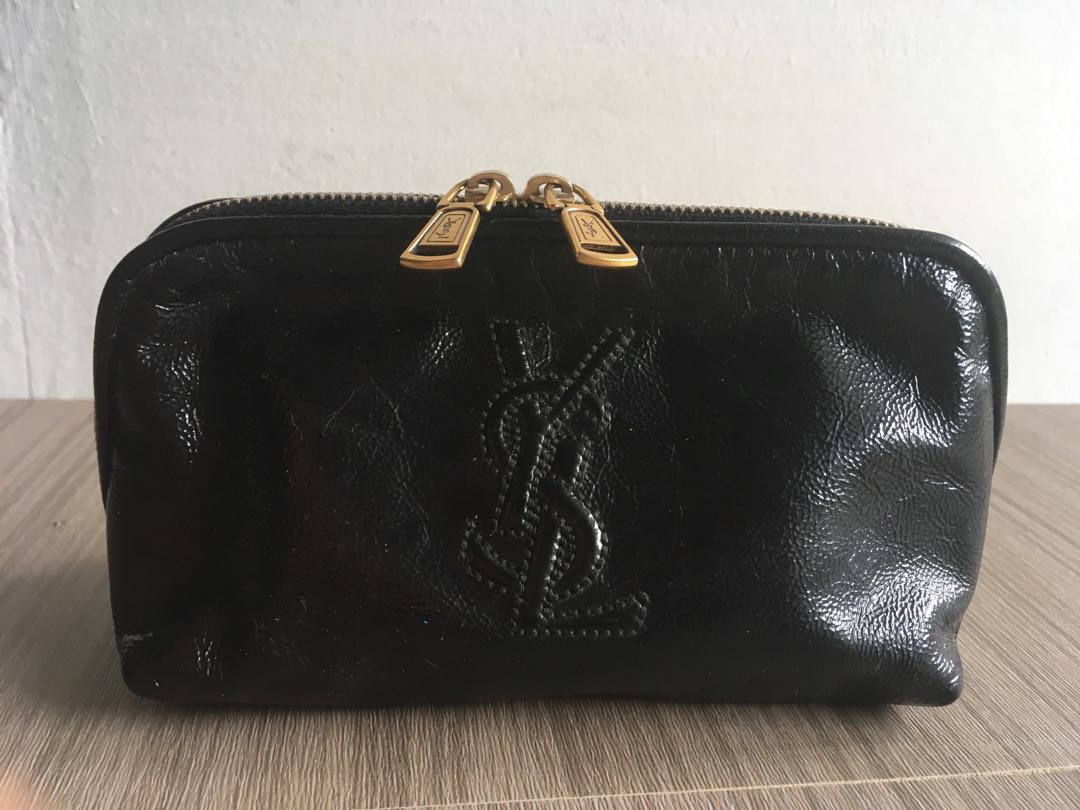 YSL Patent Leather Cosmetic Pouch 06de150928d12