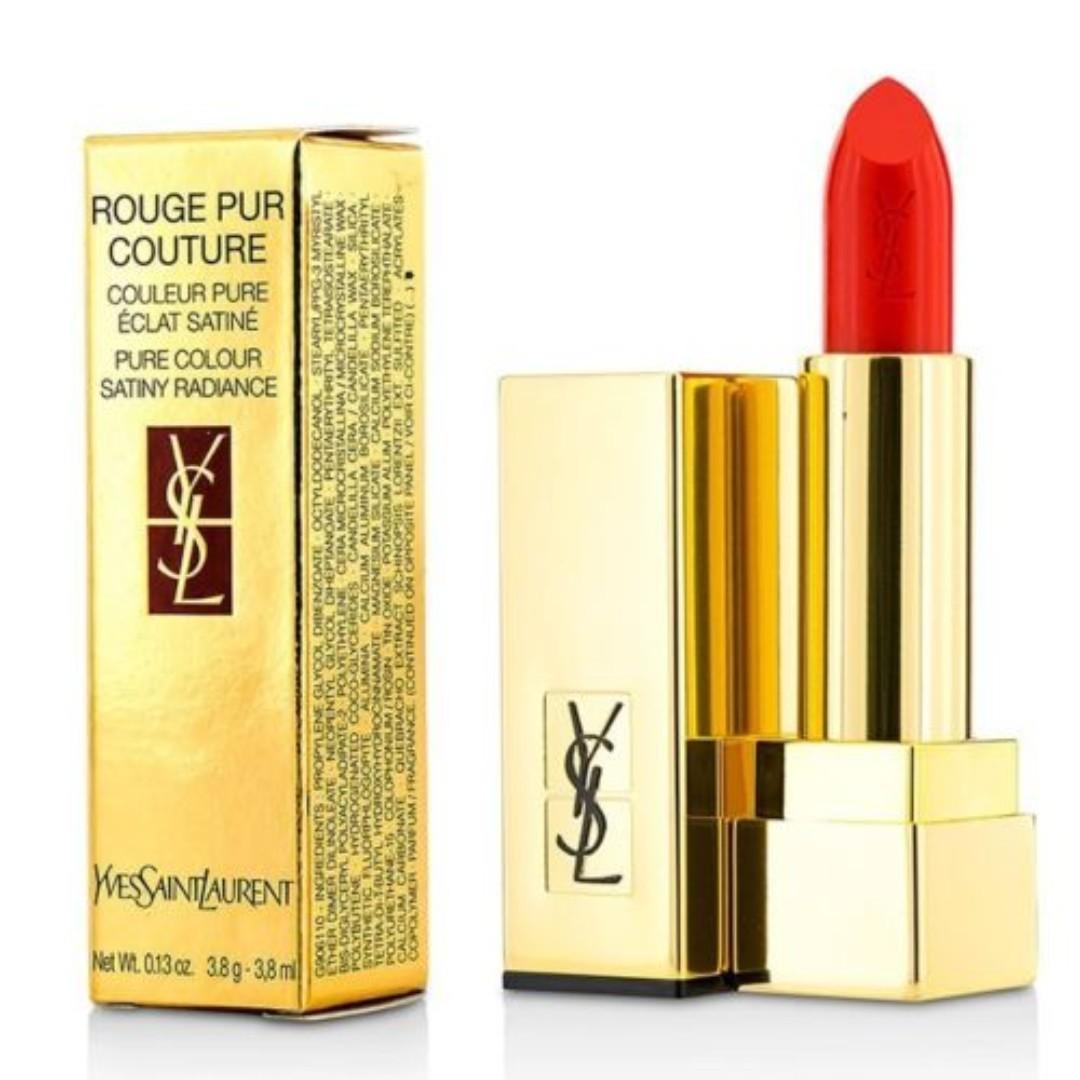 YSL Yves-Saint Laurent Rouge Pur Couture, 13 Le Orange, 3.8g, Lip Color. BNIB. RRP$85.
