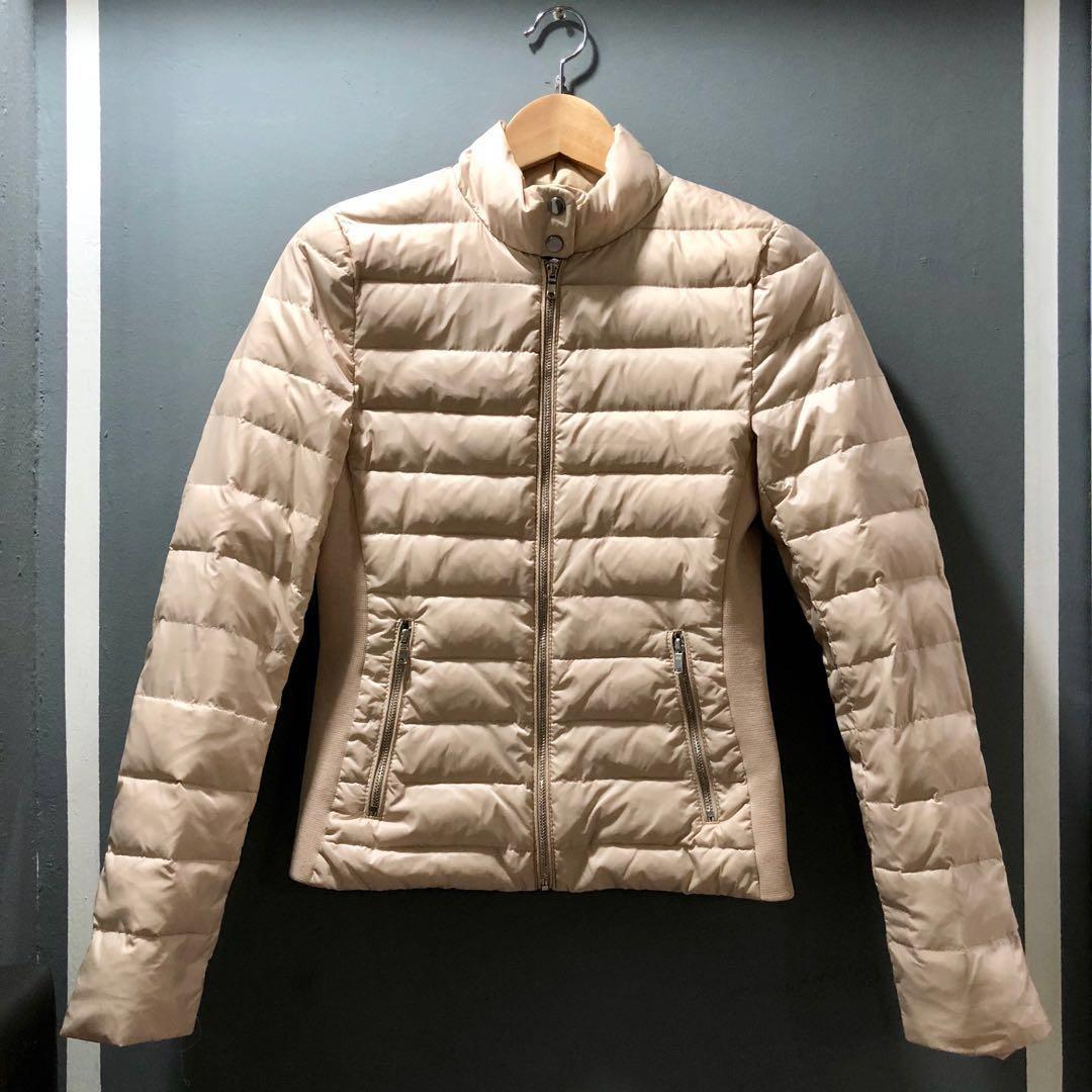 b3dbca4a Zara (Size: XS) Women Winter Down Feather Jacket (Beige), Luxury ...
