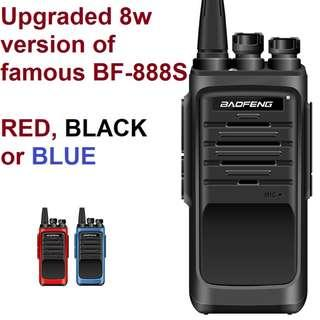🚚 New model, 8W Upgraded New Generation Baofeng BF-T88 (AKA BF-888S(I))  Transceiver Walkie Talkie UHF: 400-480MHz Two Way Radio including earpiece in Red, Black or Blue 16 channels