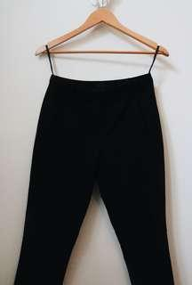 Black Cigarette Fit Pants From Topshop