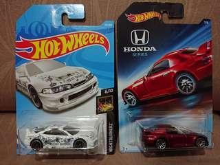 Hotwheels Honda S2000 & Integra