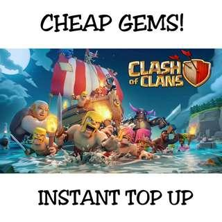 Clash of Clans Gems Top Up [ INSTANT DELIVERY! ]