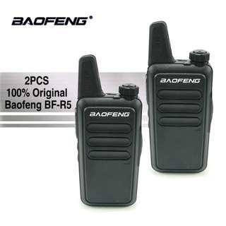 🚚 2 pcs (1 pair) 2018 model! BAOFENG BF-R5 black Mini Portable two way radio UHF 400-470MHz travel convoy shopping walkie talkie transceiver