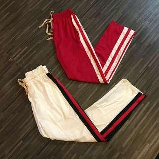 Trackpants with side stripe