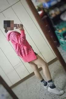 🚚 粉紅色/長版外套