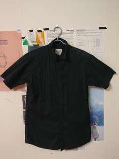 🚚 #一百均價 黑色短袖襯衫