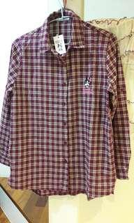 RB紅格長版襯衫