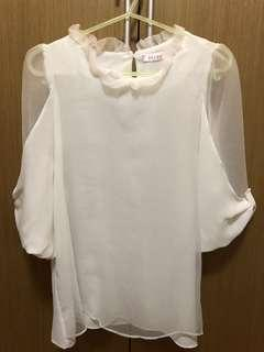 白色雪紡上衣,所乎全新