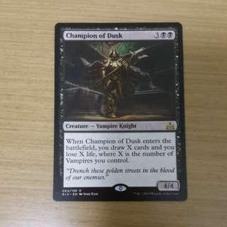 Magic the gathering RIX - Champion of Dusk