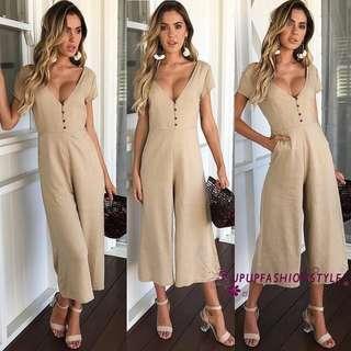 Brand New Khaki culottes jumpsuit