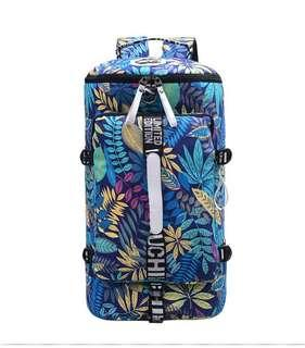 ✅ Korean style 33L leisure/travel canvas backpack blue