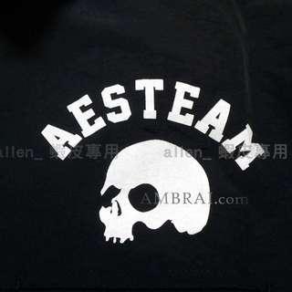 53ddd2a1 【AMBRAI.com】 AES Skull Logo Coach Jacket 教練外套骷髏防風小鬼remix