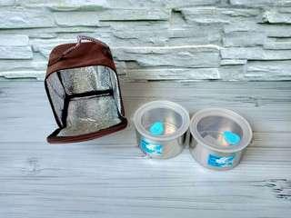ZEBRA LUNCH BOX WITH THERMAL BAG 12 CM X 2 AIRTIGHT II - 110430