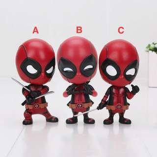 Marvel Deadpool Cosbaby Figure Chibi Hiasan Meja Mobil Dead Pool Hot Toys Bobble Head