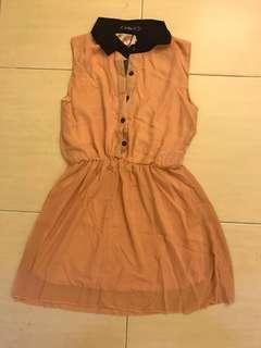 Sweet chiffon collared dress