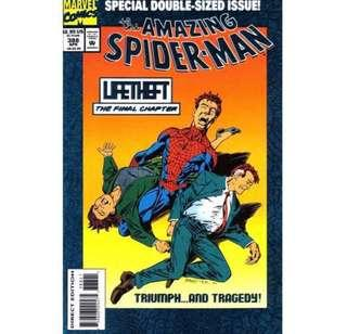 the AMAZING SPIDER-MAN #388 (1994) Double-sized issue! Blue Foil cover