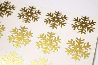 SNOWFLAKES 47pcs Available in Gold, Silver and White