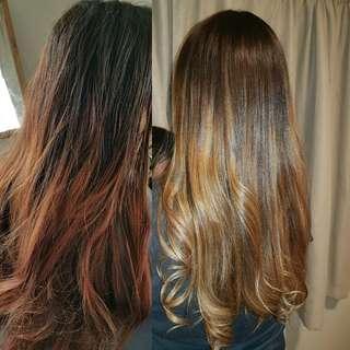Hair Colouring & Makeup services