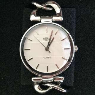 Silver / White Faced Watch