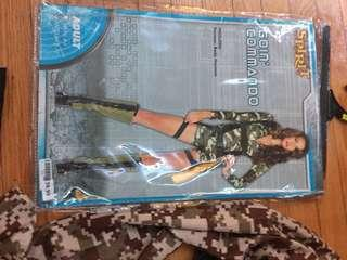 Army ladies costumes size medium it fits small or large stretchy