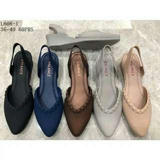 Sepatu jelly wedges loly l6