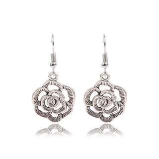 AIFEILI 2018 Jewelry FashionClassic Folk Style Silver Flower Wholesale Bohemia Earrings