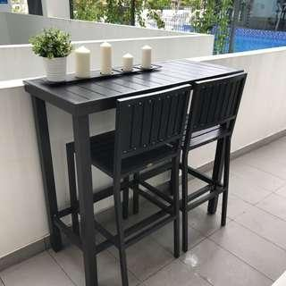 Outdoor Bar Table And Chairs (Set)