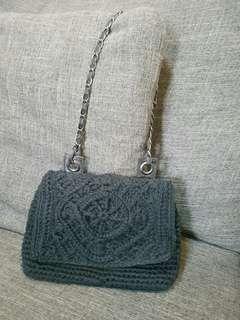Crochet shoulder bag