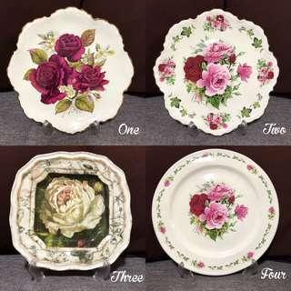 Victorian-style Decorative Plates