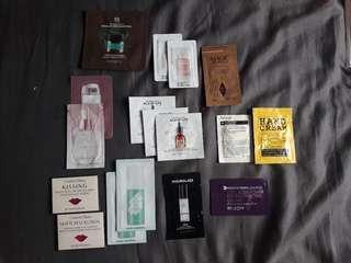 Skincare samples all for $5