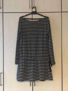Blackish Striped Top