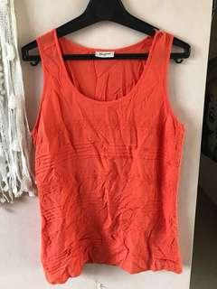 Orange lace detail top size 14