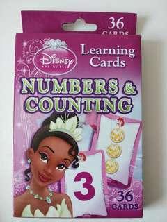 全新迪士尼 公主 disney Princess 數學學習卡