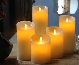 LED 電子燈仿真蠟蠋搖晃 Led candle(一套5件)攝影裝飾 #wedding