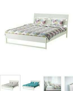Ikea bed frame TRYSIL with bed slatted LUROY