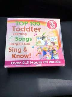 Top 100 Toddler Learning Songs - 3 CD Set