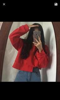 Red Crop Jumper