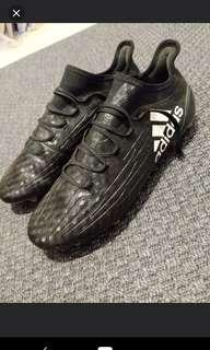First grade Adidas X16.1 FG chequered black pack UK9