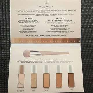 Fenty Beauty Pro Filter Primer and foundation sample pack