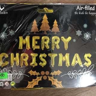 Merry Christmas Foil Balloons Set