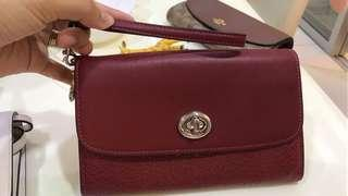 Authentic Coach Leather Cherry Chain Crossbody F31620