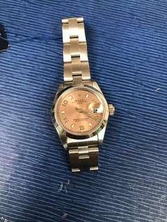 勞力士女裝69160粉紅面自動日曆手表,26mm,行走準確,靚仔,超值,淨表