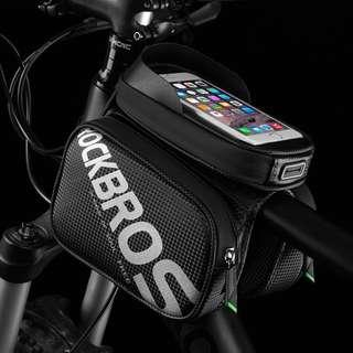 ROCKBROS 6.2 Inch Front Frame Top Tube Bag Waterproof TPU Touch Screen MTB Road Bike Bags Cell Phone Bicycle Cycling Bag