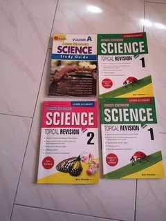 Science normal (academics)guide and revision book for lower sec